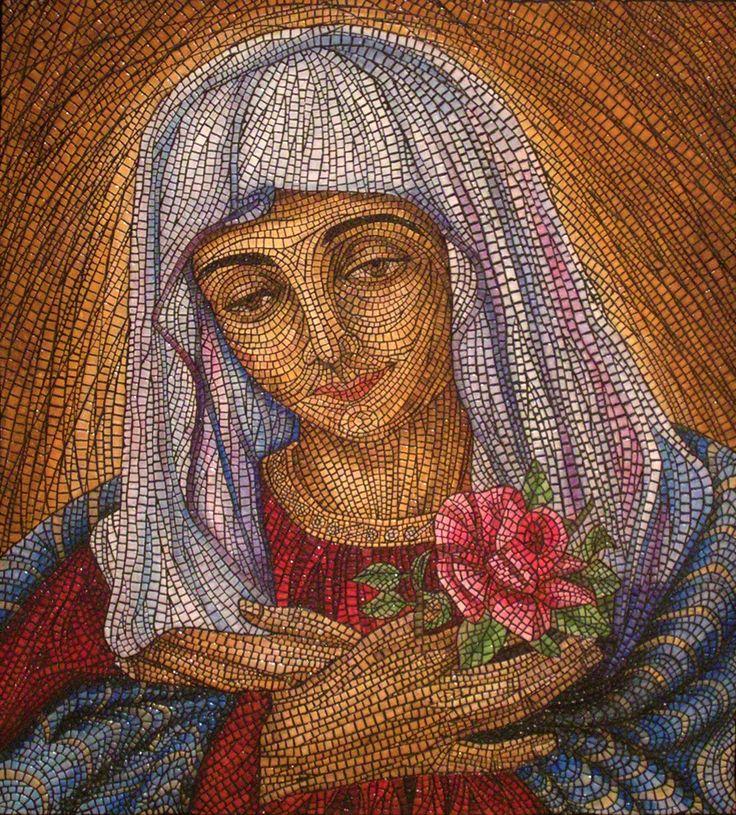 Virgen 75 x 69 cm.