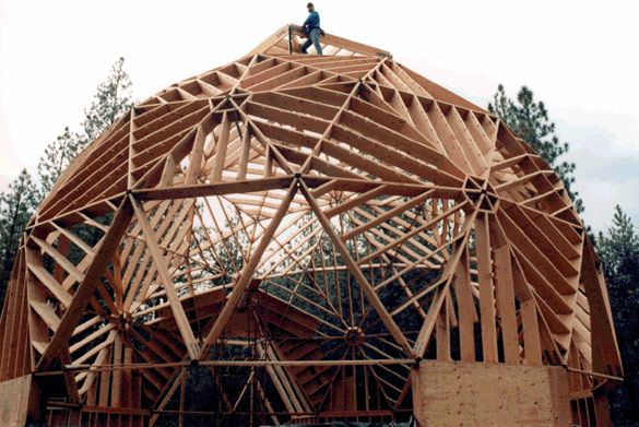 Timberline Geodesics - Dome Home Kits  This looks incredibly strong with all those studs plus the nature of the dome or arch for strength!