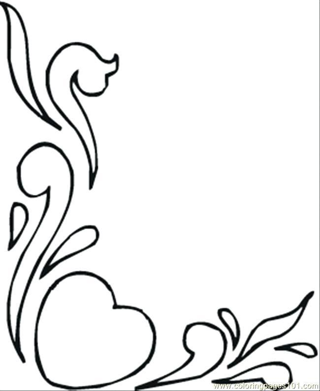 Printable Coloring Pages Hearts And Flowers Download Them Or Print