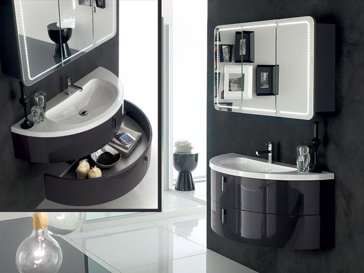 MOBILE DALÌ  Una proposta tanto funzionale quanto elegante: una base stondata con lavello incorporato che presenta due cassettoni, senza dim...