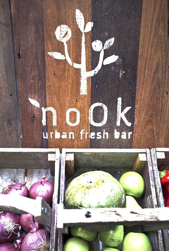 #natural #wood #organid #Fresh #green #FresBar #typo
