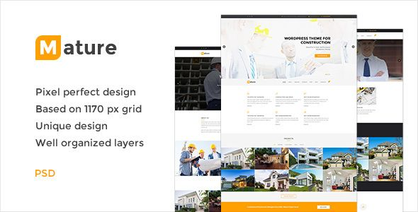 Mature — Building & Construction PSD Template (Business) - http://wpskull.com/mature-building-construction-psd-template-business/wordpress-offers
