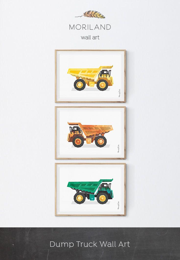 Dump Truck Wall Decor, Dumper Truck Print, Construction Decor ...