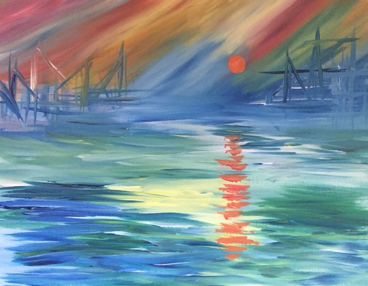 Impression Sunrise Monet Created for Paint Nite by Katana Leigh