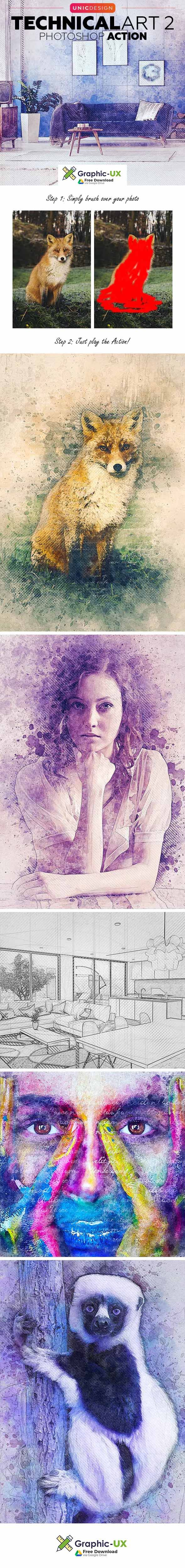 Easy Watercolor Portrait Free Photoshop Action Watercolor