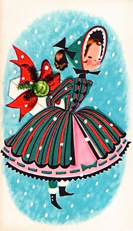 love this vintage Christmas card image. so wish it was an image to use and not an eBay auction (although adding to my vintage ephemera collection would be awesome.)