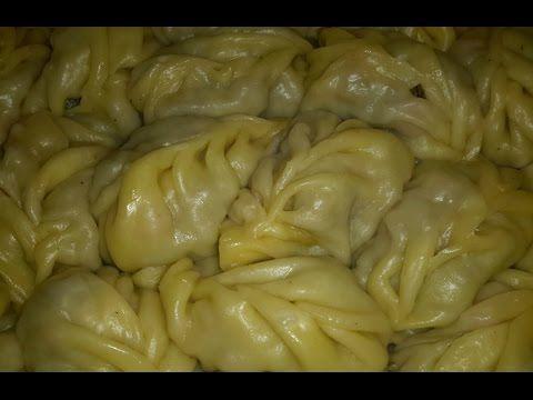 Манты рецепт Секрета - тесто на манты как приготовить второе блюда из мяса и вкусный фарш с тыквой - YouTube