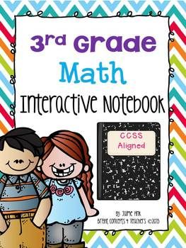 This notebook is a hands on learning tool that covers all of the 3rd grade common core math standards. $