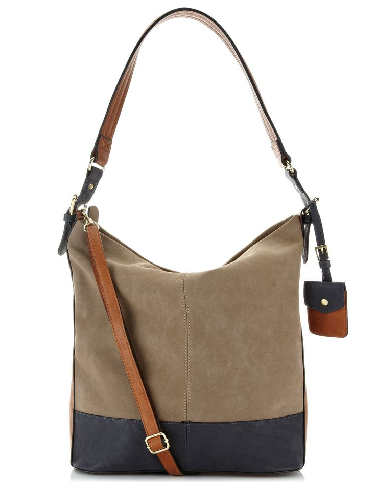 Issy Slouchy Hobo | Grey | Accessorize