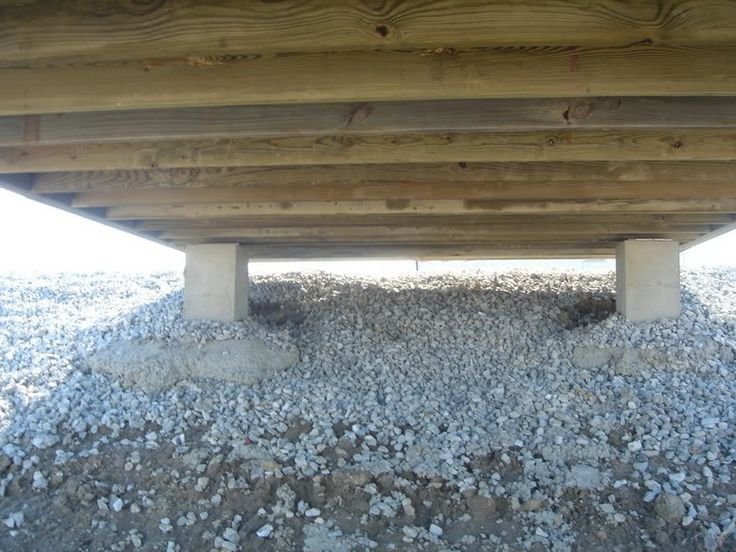 How to build a lake pier here are some 20x20 inch for Building a house on concrete piers