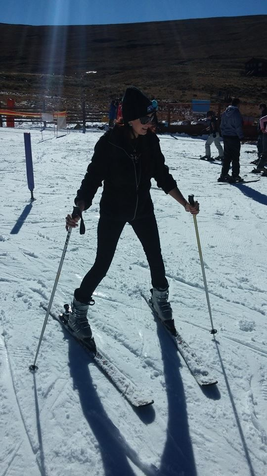 Snow Reporter Serena Ansell at Afriski