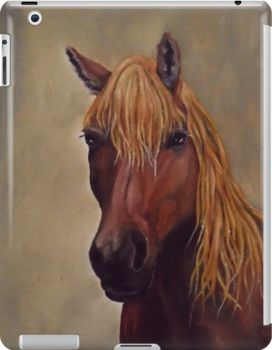 iPad Case/Skin,  unique,cool,fancy,beautiful,trendy,artistic,awesome,unusual,fashionable,accessories,gifts,presents,ideas,design,items,products,for sale,earthly colors,brown,horse,equine,portrait,redbubble