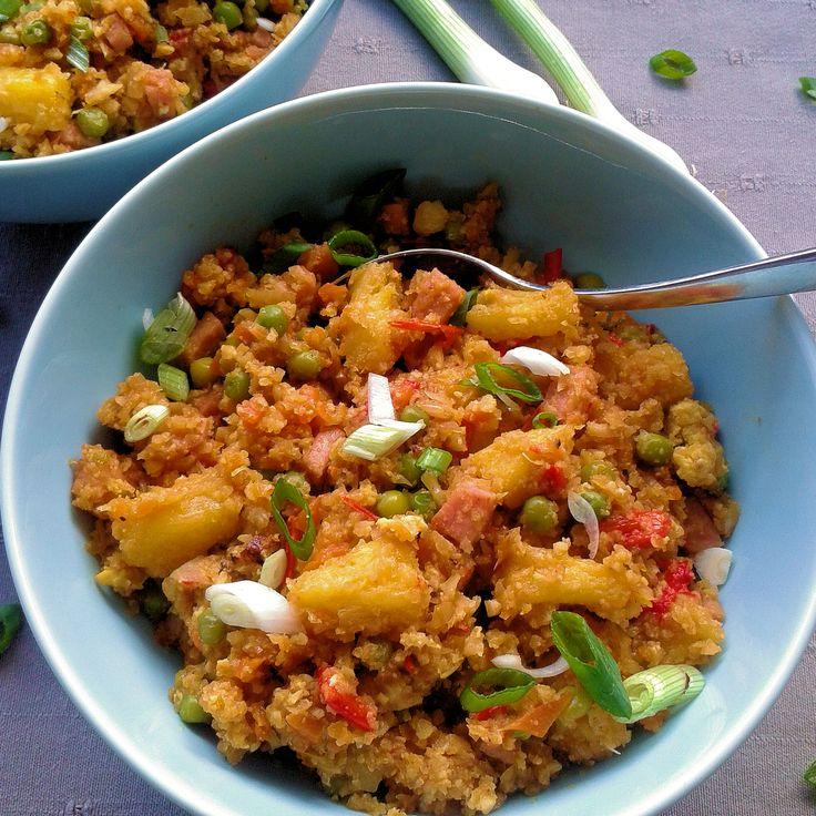 Onderstaand recept vond ik op een Canadese site van Kevin Lynch. Het is een kooldydraatarm recept met rijst gemaakt van geraspte of gemalen ...