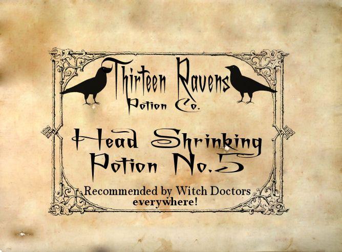 Original potion labels created by Brandi Hanes