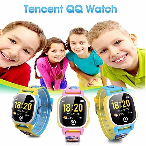 Tencent Qq Kids Gps Watch Wifi Smart Activity Tracker Watch Phone Gps Tracker Sos Call Cartoon-Watch For Android And Ios. SMART WATCH.