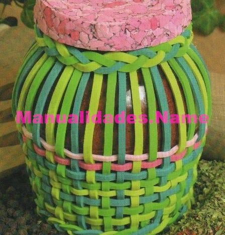 cesteria en goma eva: Basket