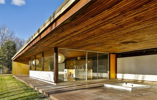 On the market: Philip Collins-designed midcentury modern property in Hopewell, New Jersey, USA on http://www.wowhaus.co.uk