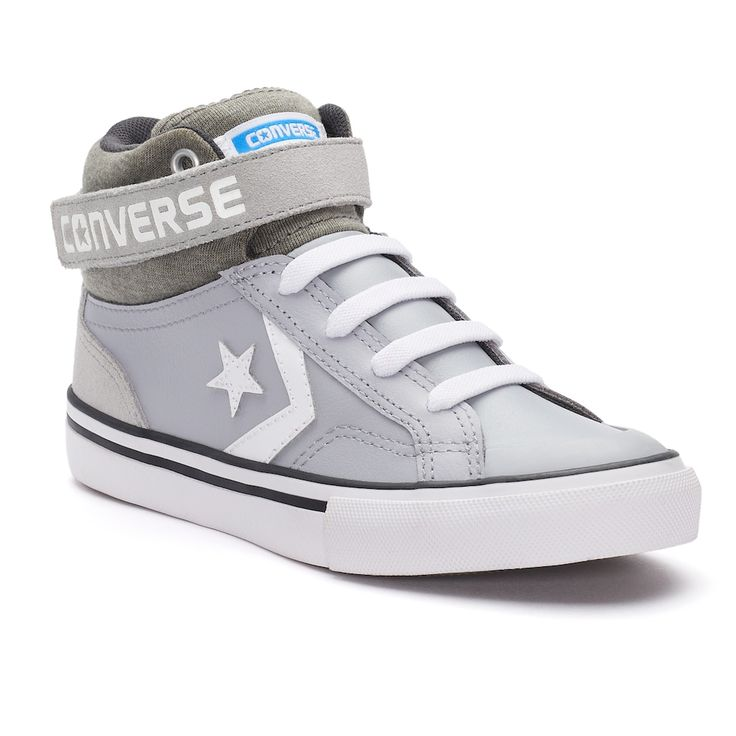 Kid's Converse Pro Blaze Strap High Top Sneakers, Boy's, Size: 12, Grey Other