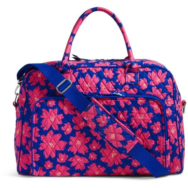 Vera Bradley Weekender Travel Bag in Art Poppies ($98) ❤ liked on Polyvore featuring bags, luggage and art poppies