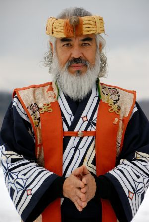 Ainu man, Japan. He is genetic proof that the Japanese have a Northern European ancestry in their background, dating back thousands of years ago.