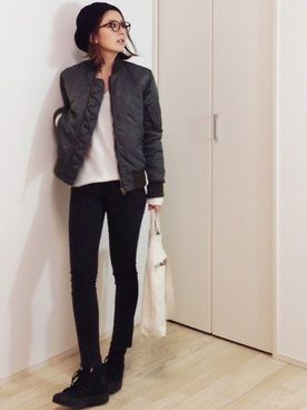 mayumiさんの「ウール 二重織り ノーカラーコート◆(Deuxieme Classe|ドゥーズィエムクラス)」を使ったコーディネート