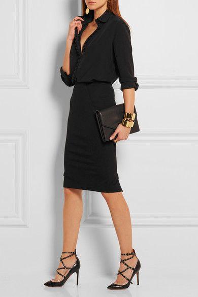 Donna Karan New York | Stretch-jersey pencil skirt | NET-A-PORTER.COM