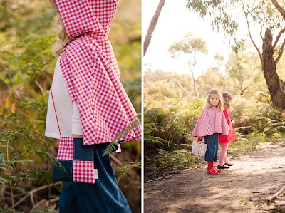reversible cape, reversible jacket, tights, 3/4 pant, gumboots | all available from missy melly