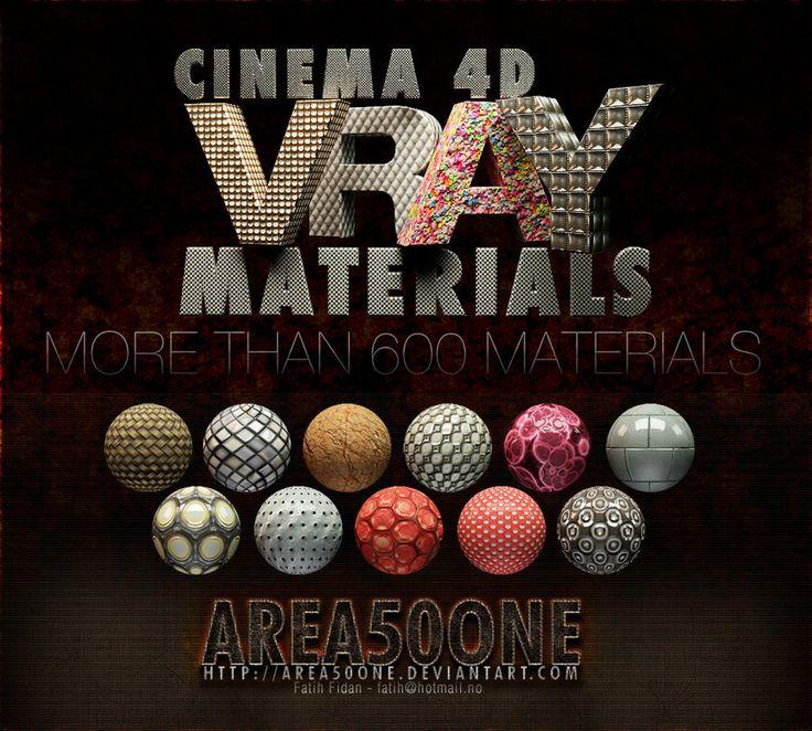 Cinema 4d Vray Materials by arEa50oNe.deviantart.com on @deviantART