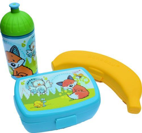 nici brotdose trinkflasche bananenbox set kindergarten. Black Bedroom Furniture Sets. Home Design Ideas