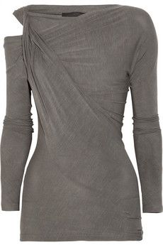 Donna Karan  Twisted stretch-jersey top