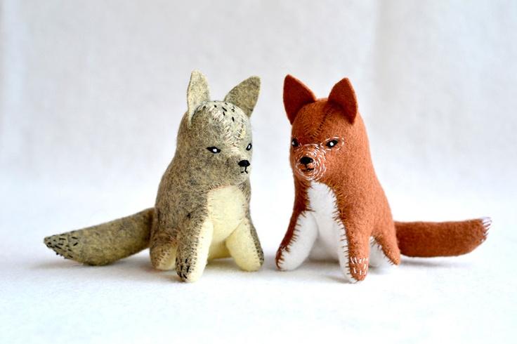 little red fox - soft sculpture animal. $48.00, via Etsy.