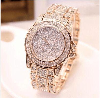 RELÓGIO FEMININO DIAMOND   Lindo Relógio de quartzo de diamante para moda feminina Jóias de cristal  Cores: Prata, Ouro rosa, Ouro.  Peça já o seu.  Frete grátis.  Pagamento via boleto ou nos cartões em até 5x.