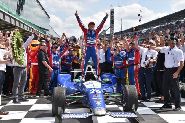 Winner... 2017 Indycar Series Rd.6 Indianapolis 500 miles. The first Japanese winner in the history of 101 races.