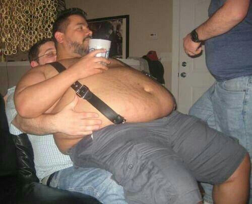 Fat man daddy x greedy girlfriend slut public blowjob 9
