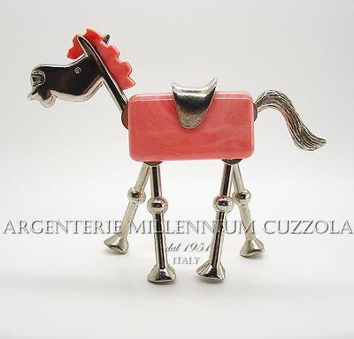 RARITA' CAVALLINO SNODABILE IN ACCIAIO E PLASTICA VINTAGE FINE ANNI 50! - RARITY JOINTED LITTLE HORSE VINTAGE 50's     ORIGINALISSIMA BOMBONIERA E IDEA REGALO  Regalo Originale Vintage Degli anni 50   ** OGGETTI RARI ** TESTA, ZAMPE E CODA SONO SNODABILI ORIGINALE AL MASSIMO, UNA BOMBONIERA ESCLUSIVA PERCHE' SEMPLICEMENTE INTROVABILE