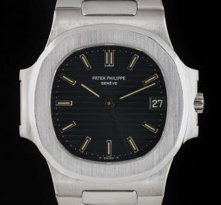 b1e6a6e2eff Patek Philippe Very Rare Nautilus Gents Wristwatch Platinum Blue Dial  3800 1P