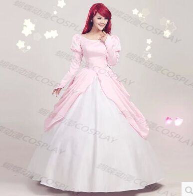The Little Mermaid princess Ariel Pink Dress Cosplay Costume anysize  For Party-in Costumes & Accessories from Novelty & Special Use on Aliexpress.com | Alibaba Group