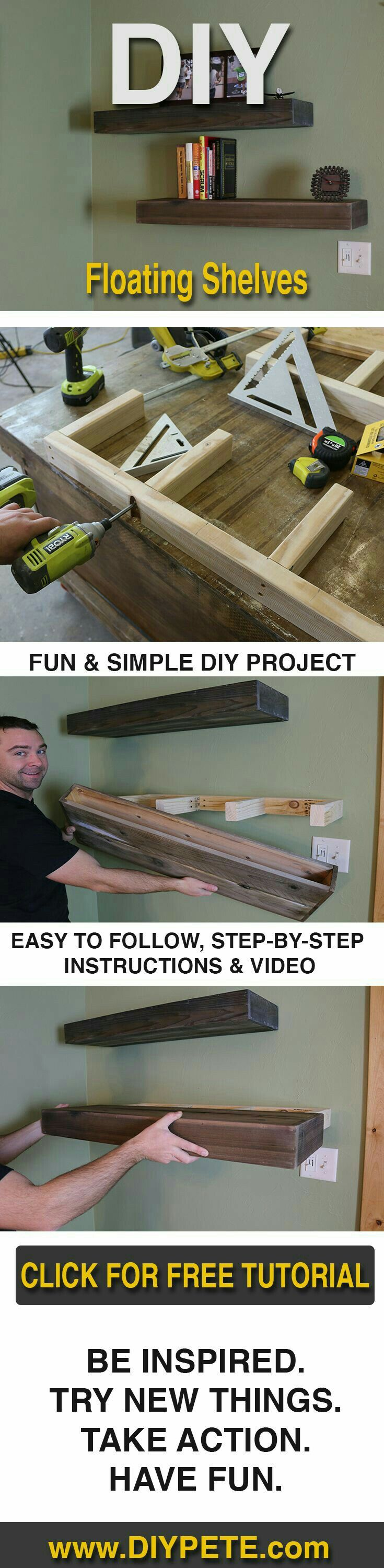 """Floating Shelves.  """"Pallet Projects"""""""