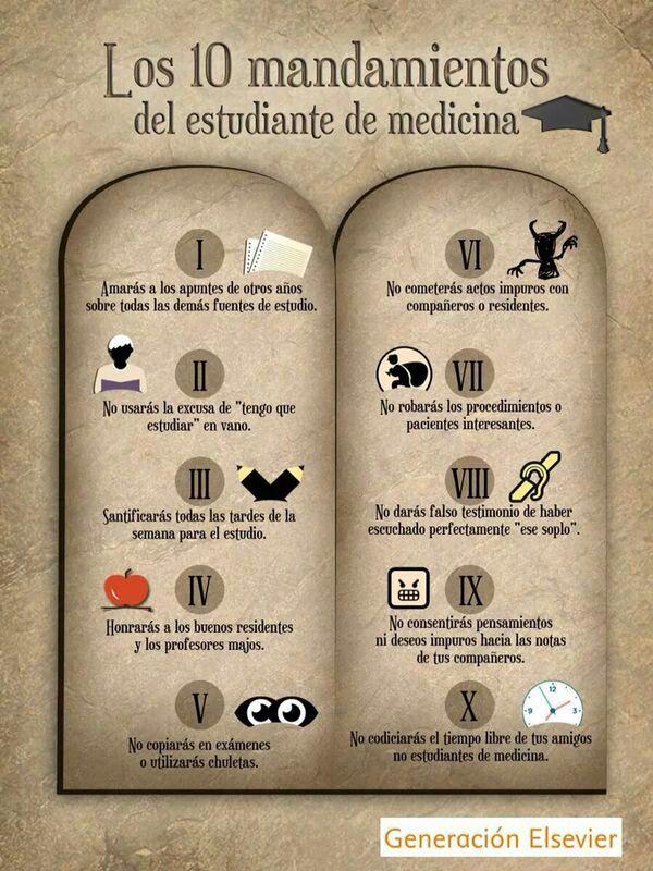 10 mandamientos del estudiante de medicina