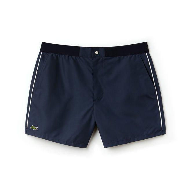cc5d96c7ca1ca Men's Piped Taffeta Swimming Trunks | LACOSTE | Lacoste in 2019 ...