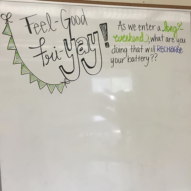 I soooo need this LONG-WEEKEND!!! #recharge #iteach7th #iteachtoo #teachersofinstagram #teachersfollowteachers #miss5thswhiteboard