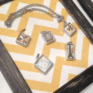 DIY Frame & Fabric Jewelry Display! Great for any Jewelry Party! #jewelkade