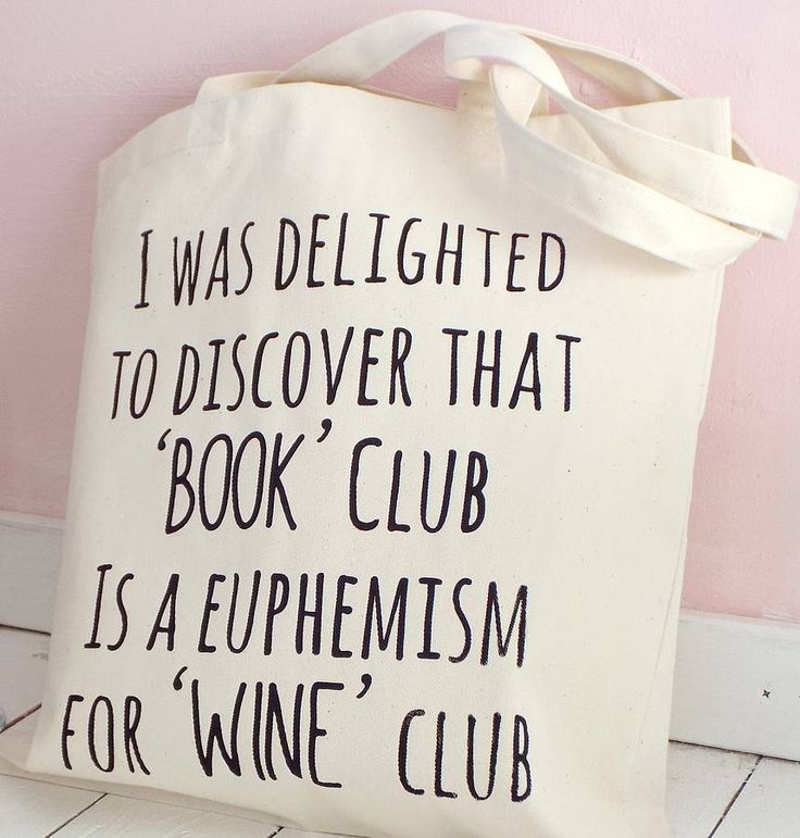 'book club wine club' tote bag by kelly connor designs knitting bags and gifts   notonthehighstreet.com