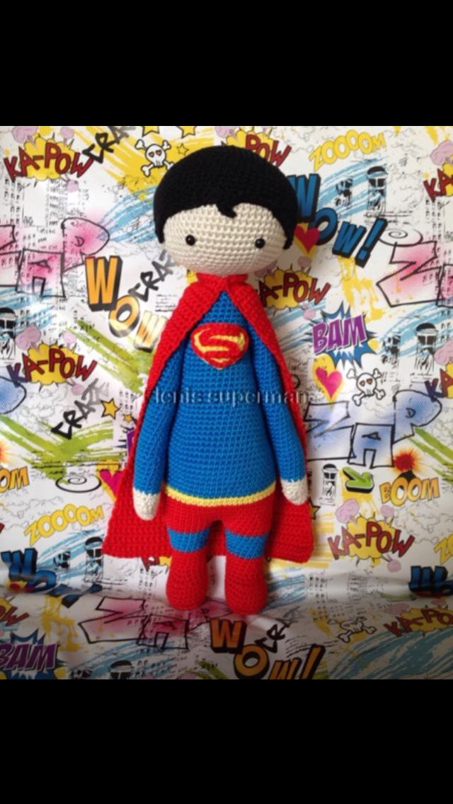 Superman Lalylala made by Eleni H./crochet pattern by lalylala My daughter would love it if I made her one of these x