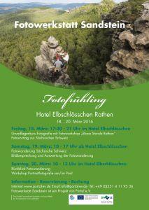 Fotofrühling 2016 vom 18. bis 20. März 2016 im Hotel Elbschlösschen in Rathen