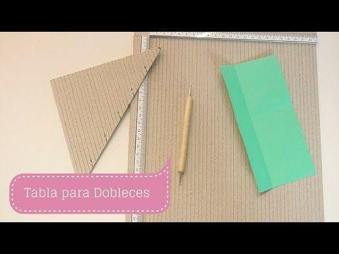 Manualidades: COMO hacer TABLA para DOBLECES DIY ♥ Sor Amparo Arredondo R. - YouTube