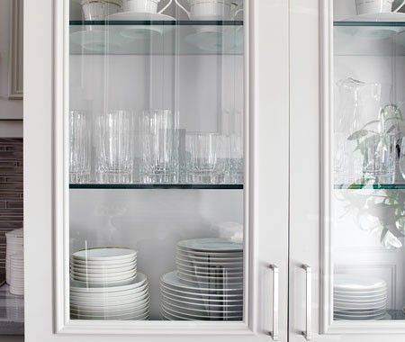diy glassfront cabinets