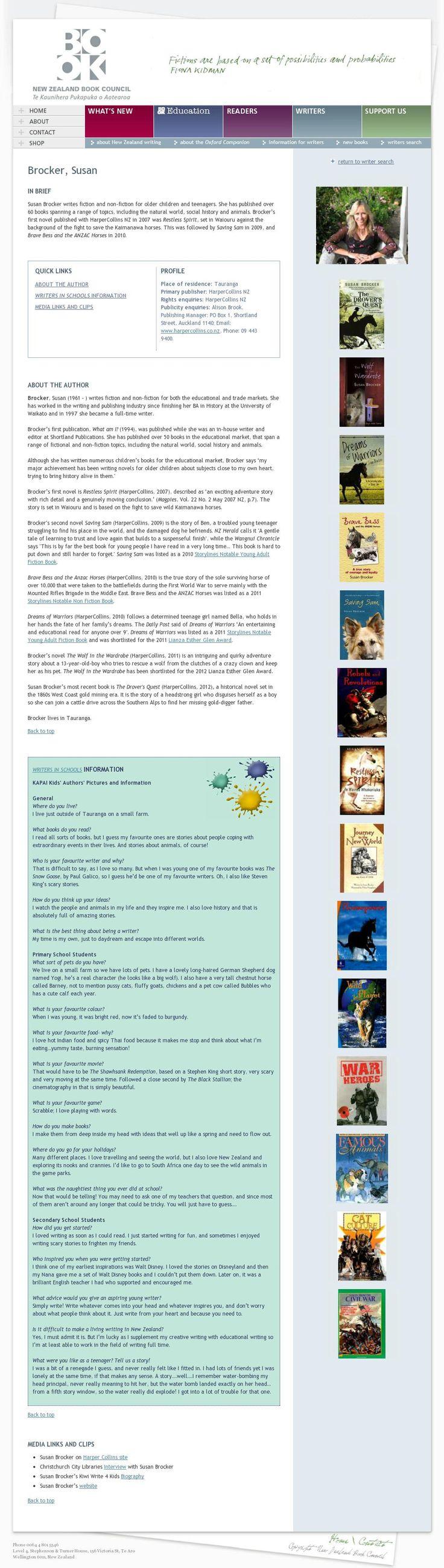 The website 'http://www.bookcouncil.org.nz/writers/profiles/brocker,%20susan' courtesy of @Pinstamatic (http://pinstamatic.com)