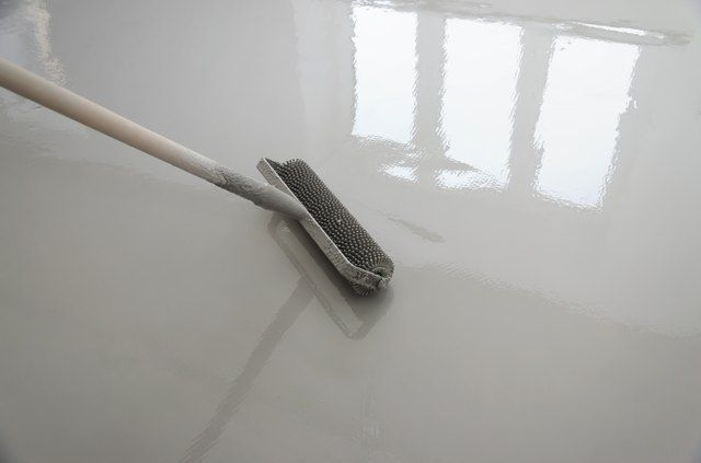 Scrapes From Heavy Appliances And Furniture Cracks From Seeping Moisture And Dirt And Gri Concrete Basement Floors Cleaning Concrete Floors Basement Flooring
