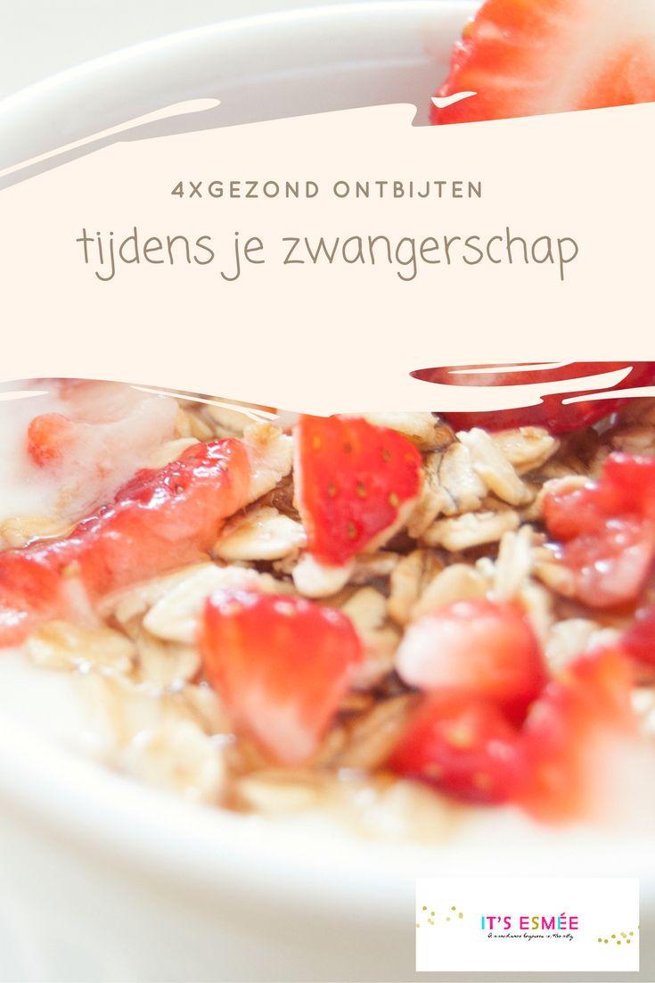 Gezond blijven eten tijdens je zwangerschap is belangrijk. Op itsesmee.com vind je 4 gezonde ontbijt recepten die voedzaam én lekker zijn.